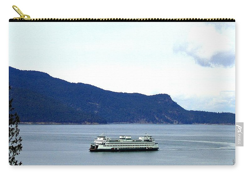 Washington State Ferry Carry-all Pouch featuring the photograph Washington State Ferry by Will Borden