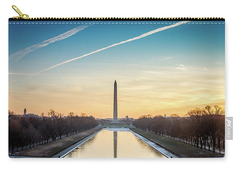 Usa Carry-all Pouch featuring the photograph Washington Sunrise by Framing Places