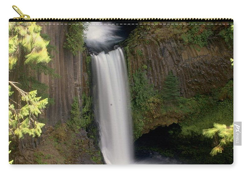 Waterfall Carry-all Pouch featuring the photograph Washington Waterfall by Marty Koch