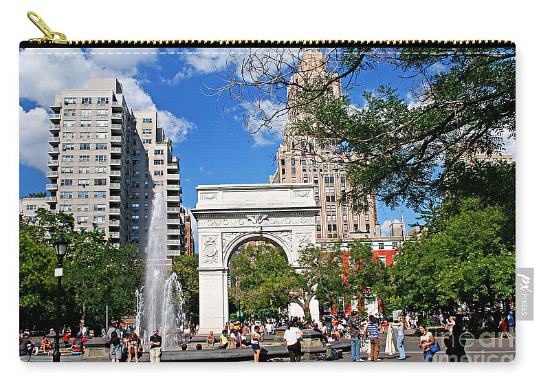 Washington Carry-all Pouch featuring the photograph Washingtone Square New York by Zal Latzkovich