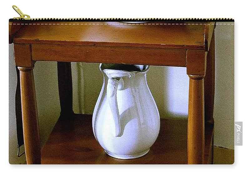 Washstand Carry-all Pouch featuring the photograph Washstand by Nelson Strong