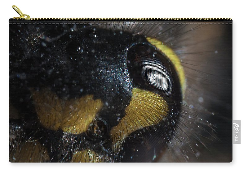 Wasp Carry-all Pouch featuring the photograph Wasp Eye by Anders Larsen