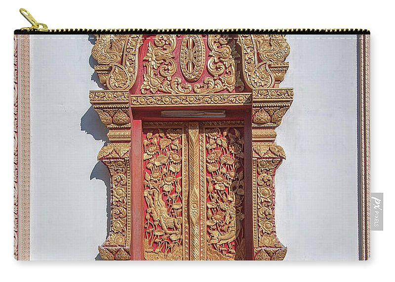 Scenic Carry-all Pouch featuring the photograph Wat Buppharam Phra Wihan Window Dthcm1581 by Gerry Gantt