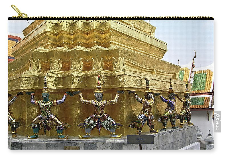 Wat Po Carry-all Pouch featuring the photograph Wat Po Bangkok Thailand 12 by Douglas Barnett