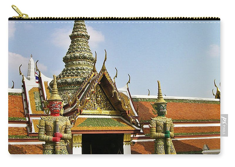 Wat Po Carry-all Pouch featuring the photograph Wat Po Bangkok Thailand 17 by Douglas Barnett