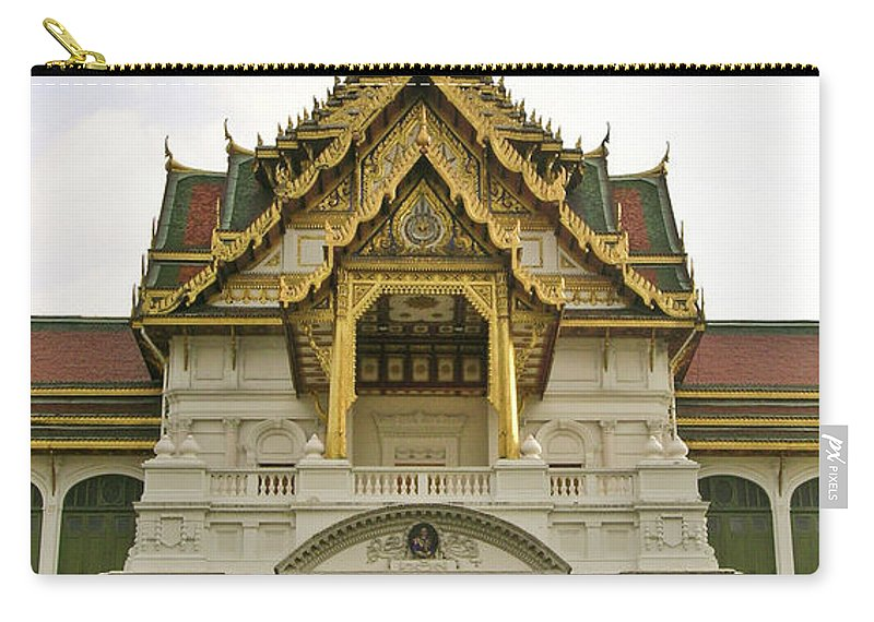 Wat Po Carry-all Pouch featuring the photograph Wat Po Bangkok Thailand 30 by Douglas Barnett