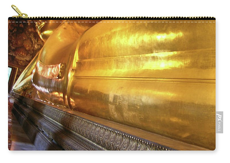Wat Po Carry-all Pouch featuring the photograph Wat Po Bangkok Thailand 32 by Douglas Barnett