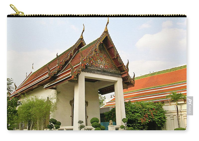 Wat Po Carry-all Pouch featuring the photograph Wat Po Bangkok Thailand 39 by Douglas Barnett