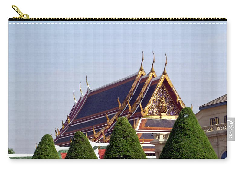 Wat Po Carry-all Pouch featuring the photograph Wat Po Bangkok Thailand 4 by Douglas Barnett