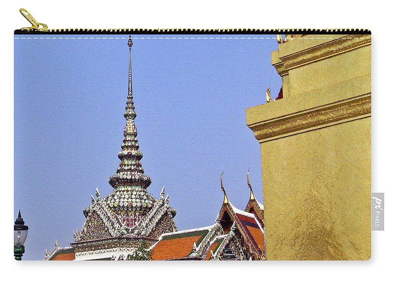 Wat Po Carry-all Pouch featuring the photograph Wat Po Bangkok Thailand 6 by Douglas Barnett