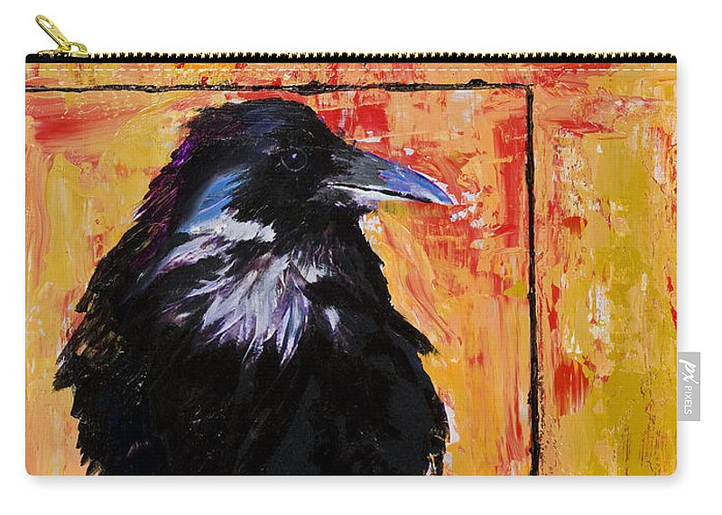 Large Decorative Fine Art Prints Carry-all Pouch featuring the painting Watch And Learn by Pat Saunders-White