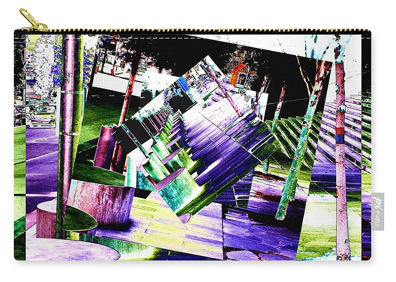 Seattle Carry-all Pouch featuring the photograph Watch Your Step by Tim Allen