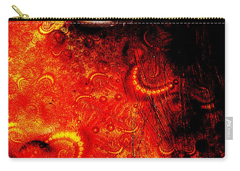 Clay Carry-all Pouch featuring the digital art Watchful Spirit by Clayton Bruster