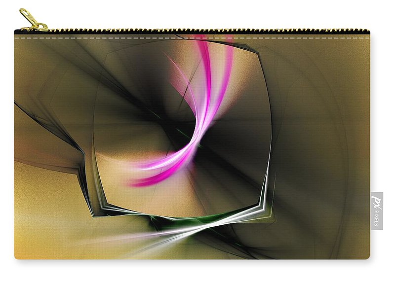 Art Carry-all Pouch featuring the digital art Watching In Silence by Jeff Iverson