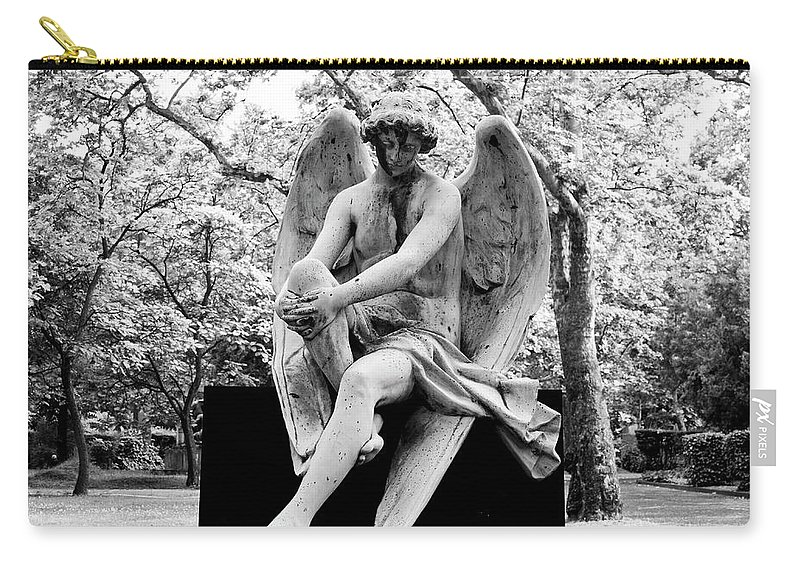 Angel Carry-all Pouch featuring the photograph Watching Over by Rae Tucker