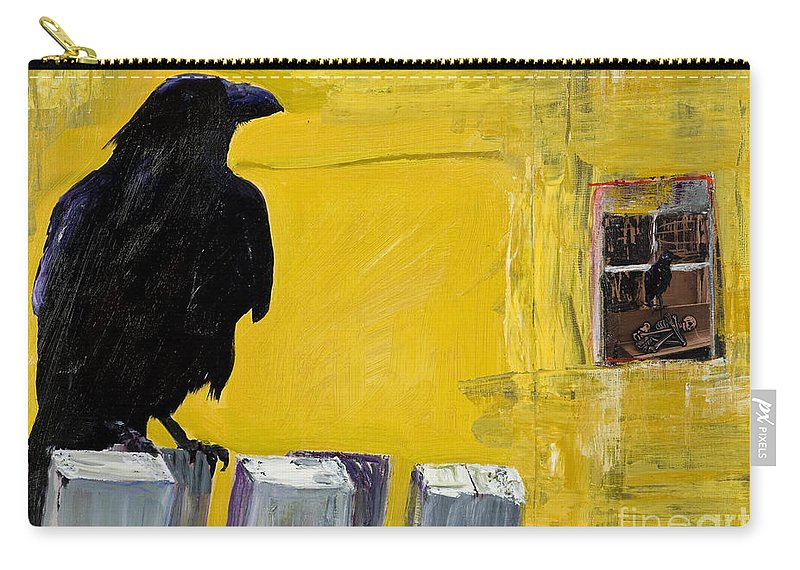 Pat Saunders-white Canvas Prints Carry-all Pouch featuring the painting Watching by Pat Saunders-White
