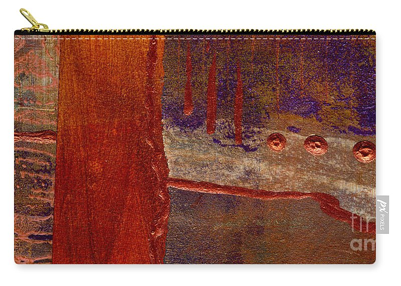 Vibrant Carry-all Pouch featuring the mixed media Watching You by Angela L Walker