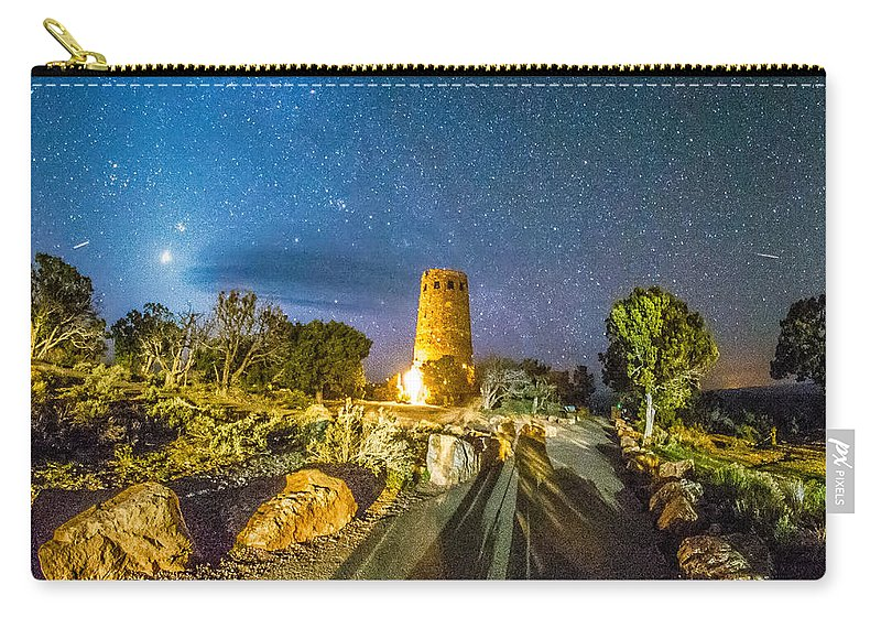 Canyon Carry-all Pouch featuring the photograph Watchtower Over The Grand Canyon  Arizona by Alex Grichenko