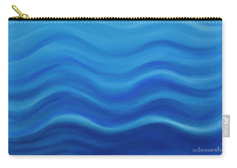 Water Carry-all Pouch featuring the painting Water by Adamantini Feng shui