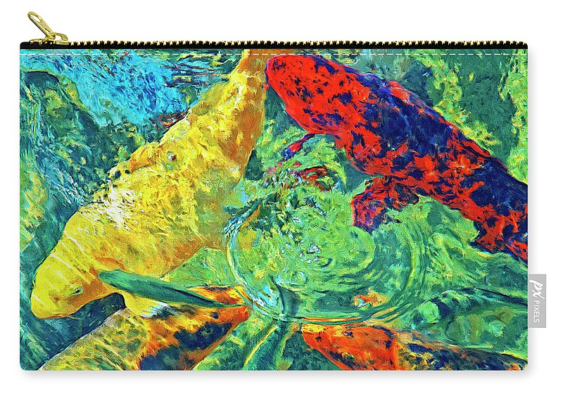 Koi Carry-all Pouch featuring the painting Water Ballet by Dominic Piperata
