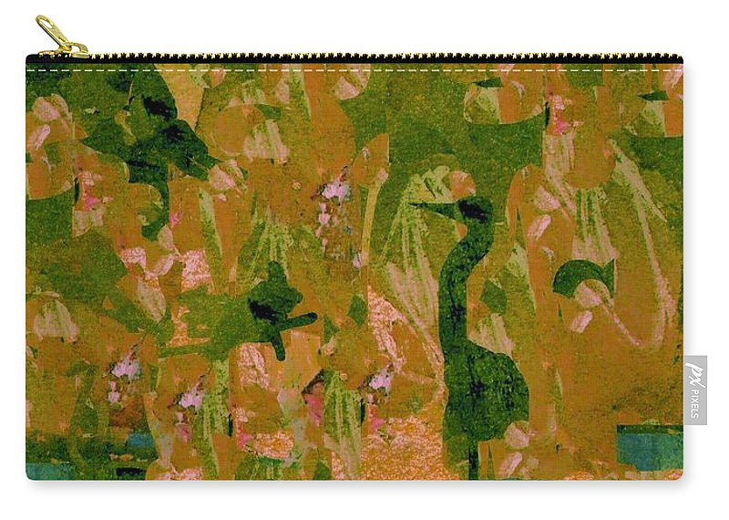 Digital Art Carry-all Pouch featuring the digital art Water Bird Tapestry by Nancy Kane Chapman