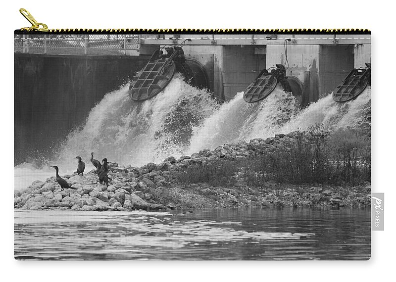 Water Carry-all Pouch featuring the photograph Water Birds by Rob Hans