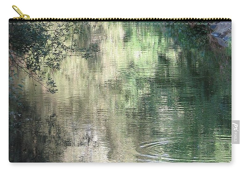 Reflection Carry-all Pouch featuring the photograph Water Color by Kelly Mezzapelle
