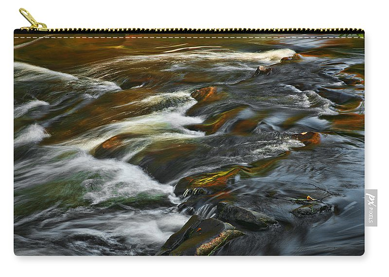 Water Rocks Stream Color Photography Photograph Carry-all Pouch featuring the photograph Water Colors by Shari Jardina