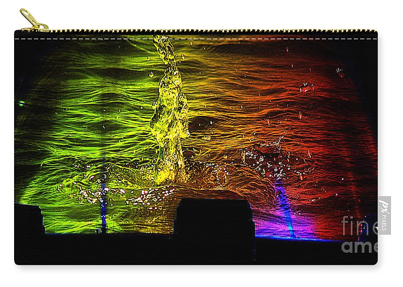 Clay Carry-all Pouch featuring the digital art Water Dance by Clayton Bruster