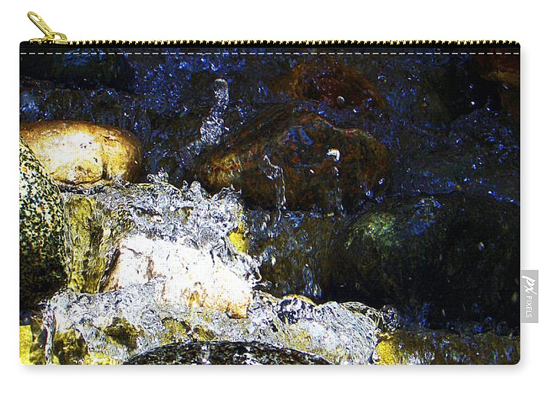 Water Carry-all Pouch featuring the photograph Water Dancer 4 by September Stone