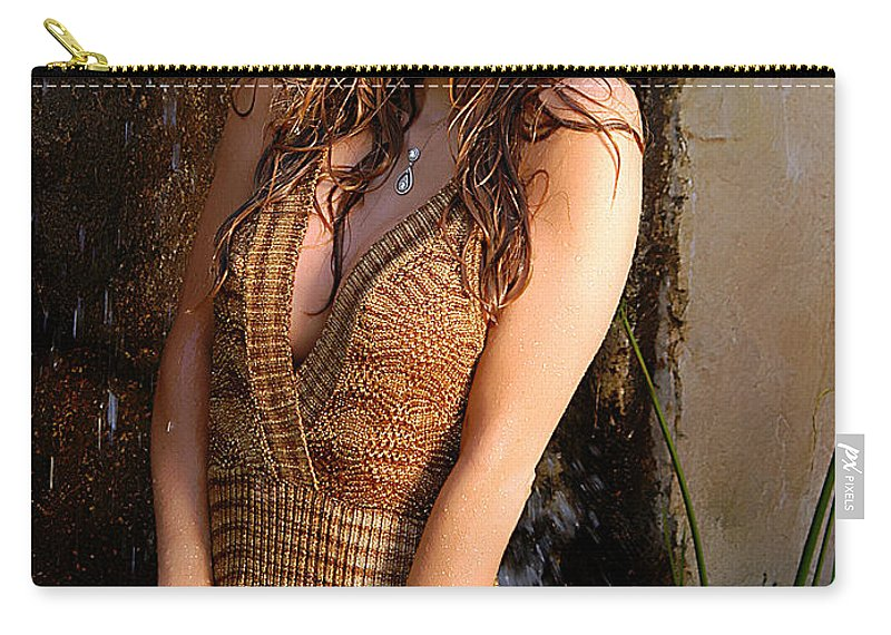 Clay Carry-all Pouch featuring the photograph Water Fall Beauty by Clayton Bruster