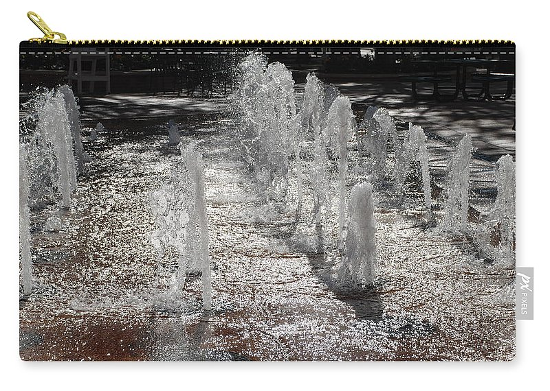 Water Carry-all Pouch featuring the photograph Water Fountain by Rob Hans