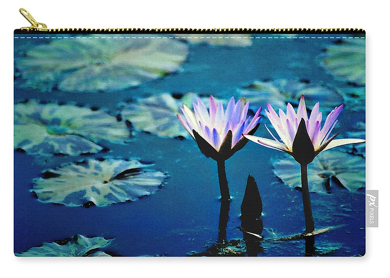Waterscape Carry-all Pouch featuring the photograph Water Glow by Steve Karol
