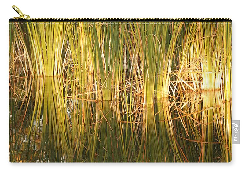Grass Carry-all Pouch featuring the photograph Water Grass In Sunset by Rob Hans
