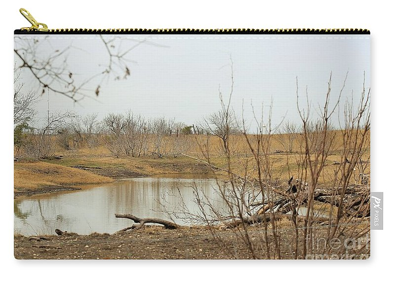Carry-all Pouch featuring the photograph Water Hole 007 by Jeff Downs