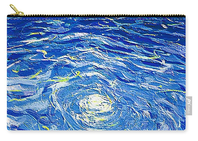 Pool Carry-all Pouch featuring the mixed media Water In The Pool by Dragica Micki Fortuna