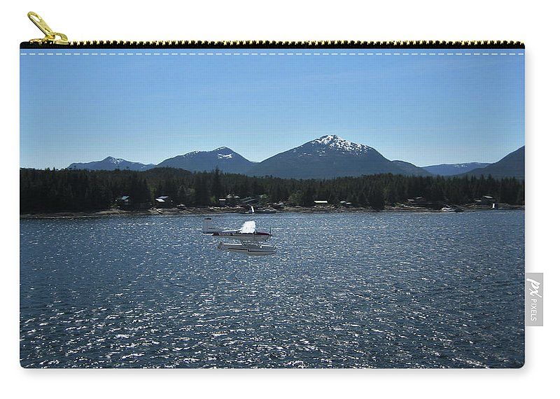 Seaplane Carry-all Pouch featuring the photograph Water Landing by Lori Tambakis