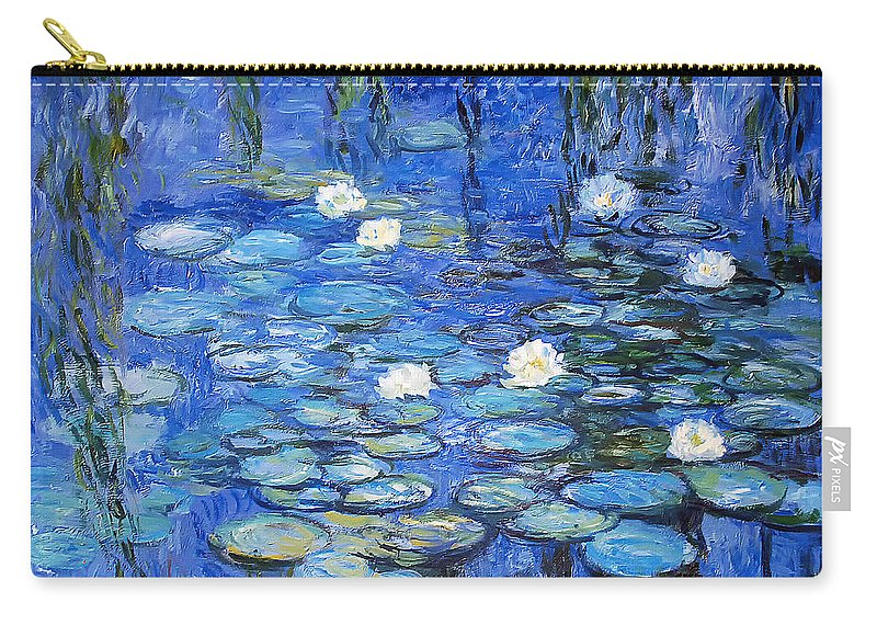 Water Lilies Carry-all Pouch featuring the photograph water lilies a la Monet by Joachim G Pinkawa