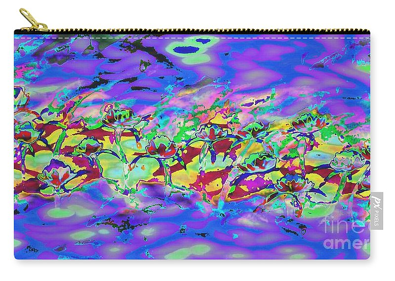 Abstract Carry-all Pouch featuring the painting water lilies In twilight by Lynn Wood