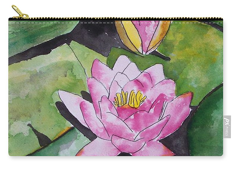 Water Lily Carry-all Pouch featuring the painting Water Lily by Derek Mccrea