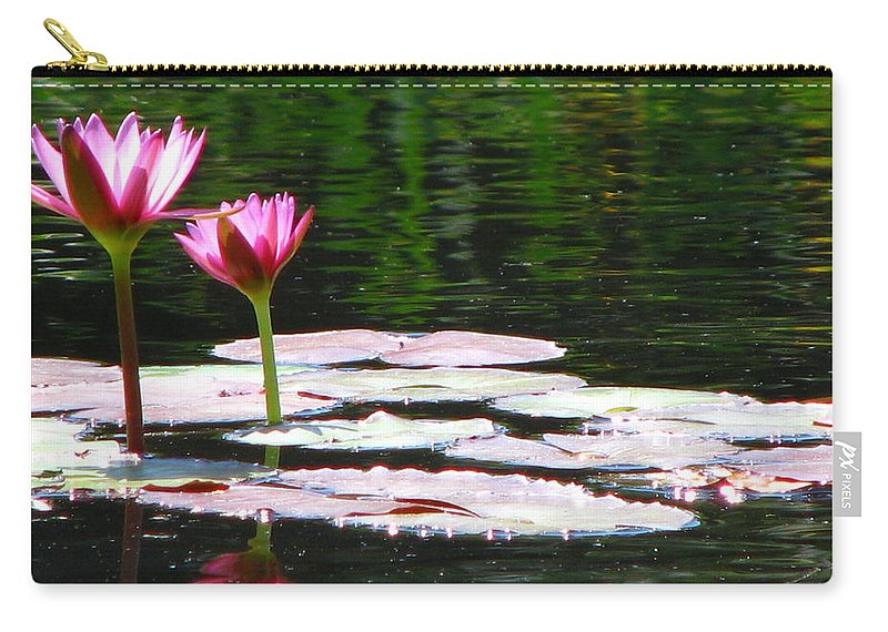 Patzer Carry-all Pouch featuring the photograph Water Lily by Greg Patzer