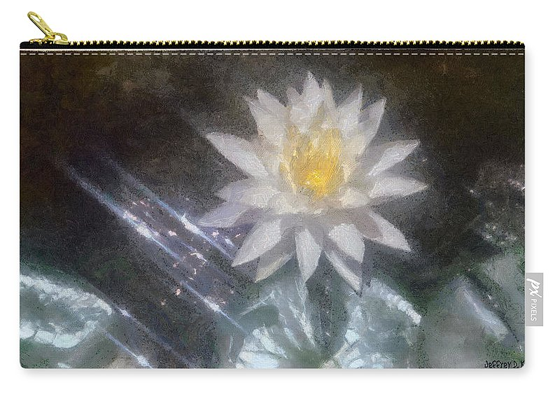 Water Lily Carry-all Pouch featuring the painting Water Lily In Sunlight by Jeffrey Kolker