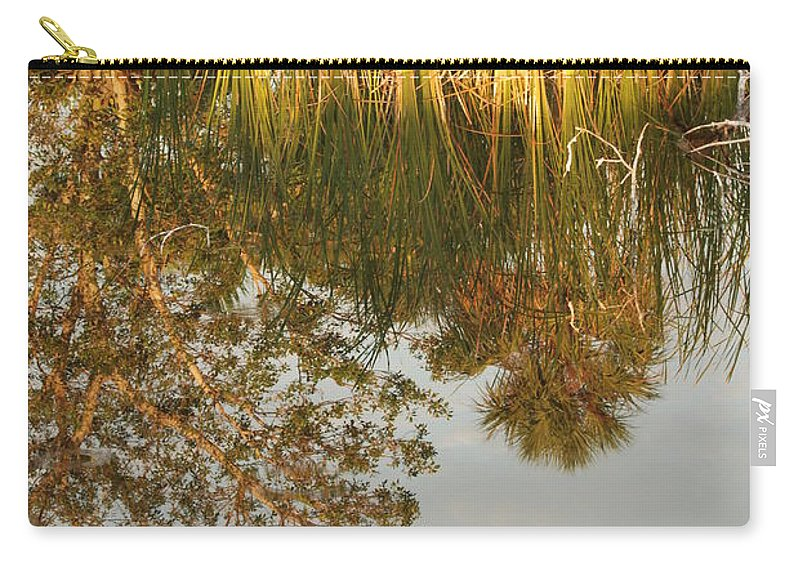 Wood Carry-all Pouch featuring the photograph Water Line by Rob Hans