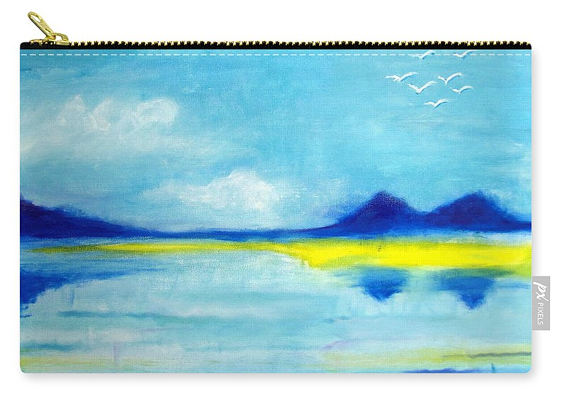 Blue Carry-all Pouch featuring the painting Water by Maya Chu