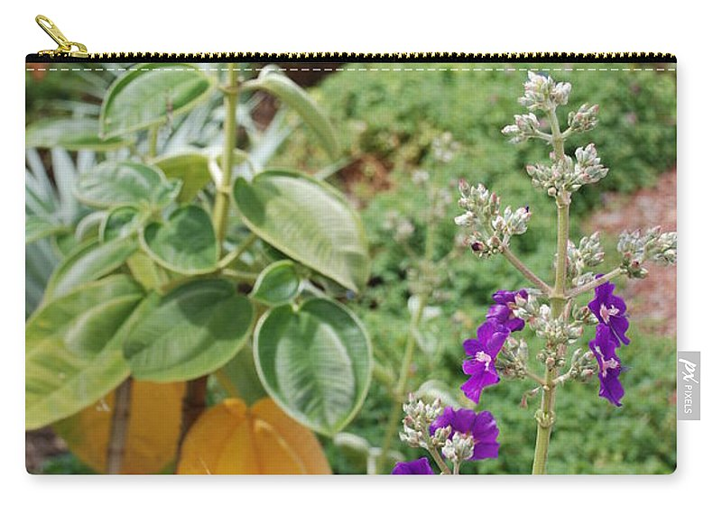 Water Carry-all Pouch featuring the photograph Water Plants And Flower by Rob Hans