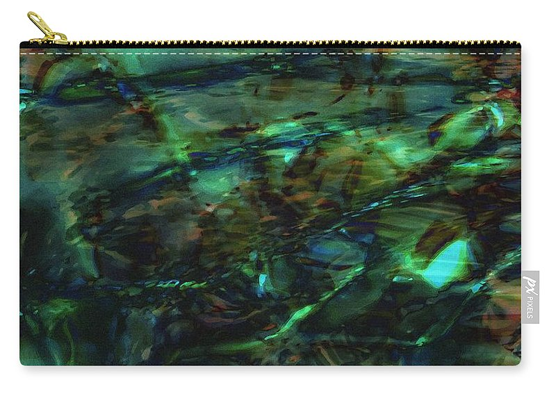Abstraction Carry-all Pouch featuring the digital art Water Play by Max Steinwald