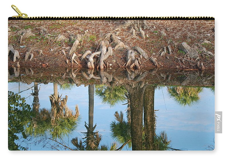 Roots Carry-all Pouch featuring the photograph Water Reflections by Rob Hans