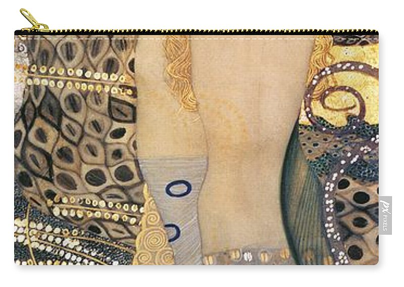 Gustav Klimt Carry-all Pouch featuring the painting Water Serpents I by Gustav klimt