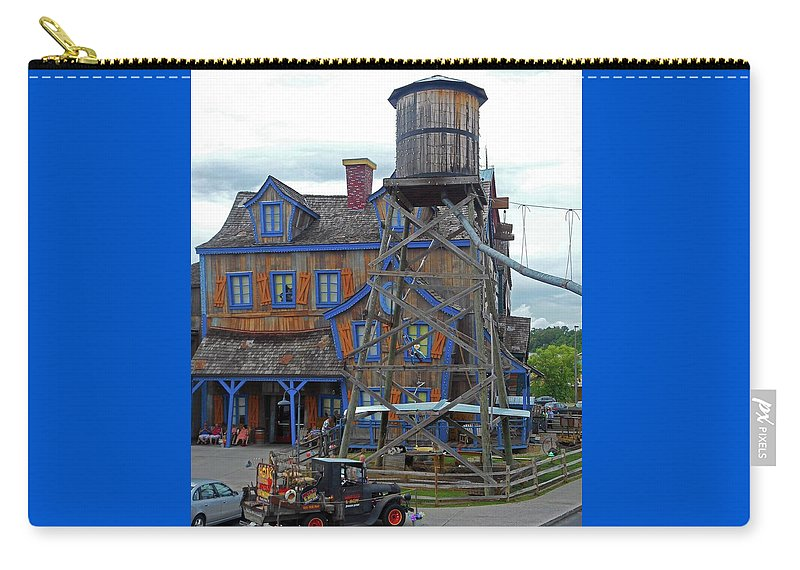 Pigeon Forge Carry-all Pouch featuring the photograph Water Tank House by Ron Kandt