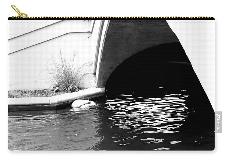 Water Under The Bridge Carry-all Pouch featuring the photograph Water Under The Bridge by Dan Sproul